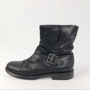 Frye Single Natalie Engineer Short Ankle Boot L